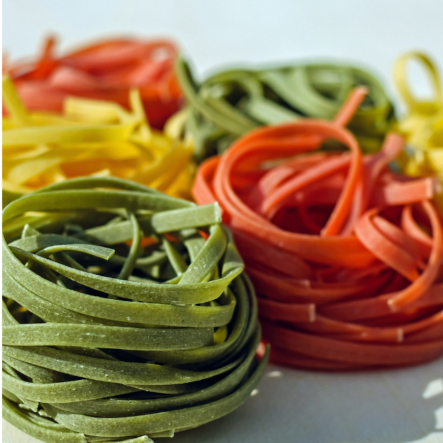 Coloured pasta