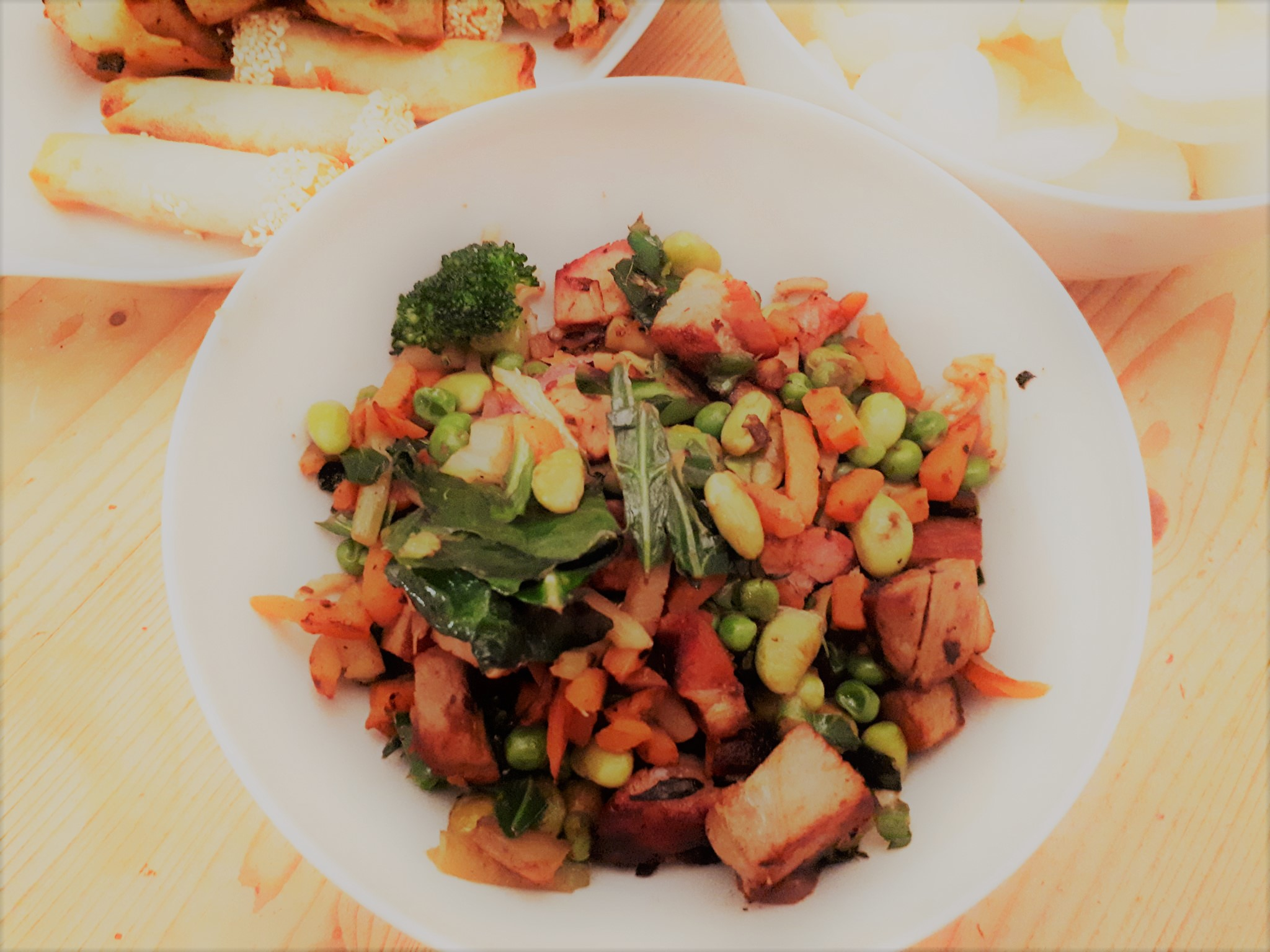Pork and Pea Stir Fry
