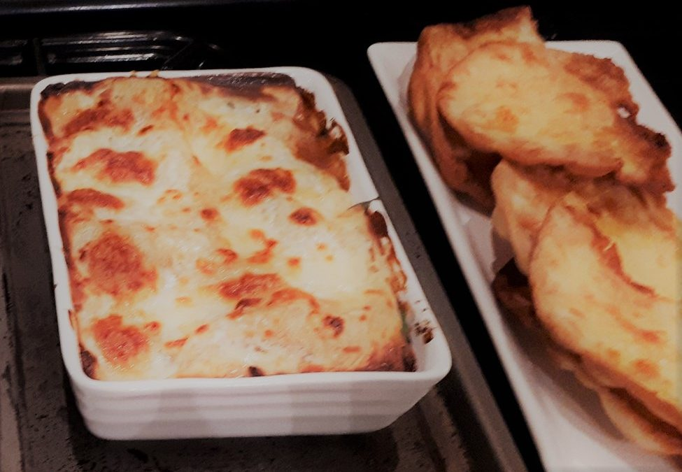 Vegetarian Lasagne with Soya mince