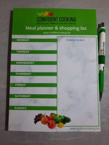 Confident Cooking Meal Planner