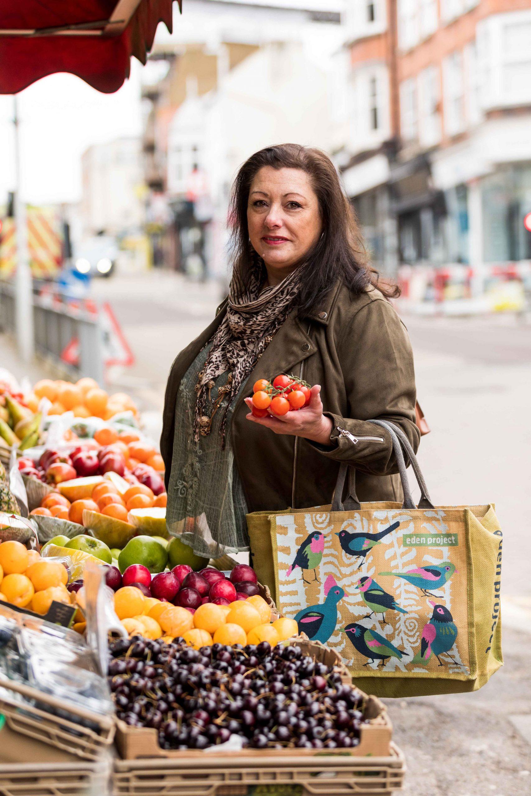 Jacqui at the Greengrocers